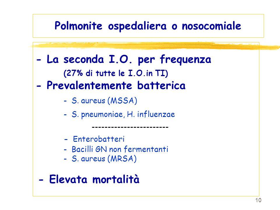 Polmonite ospedaliera o nosocomiale