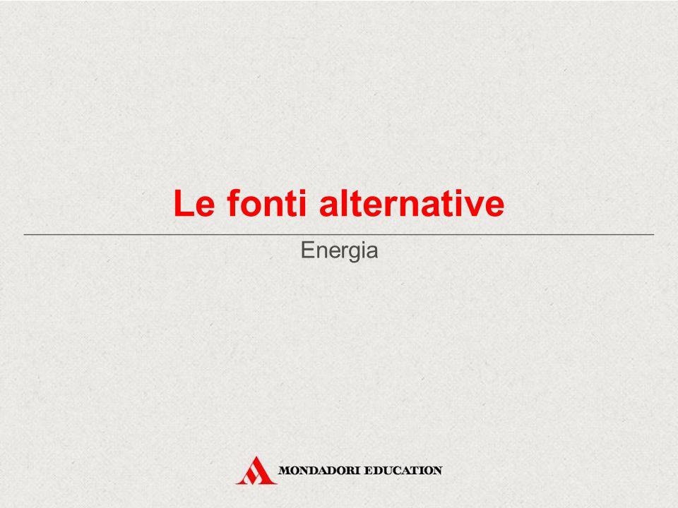 Le fonti alternative Energia *