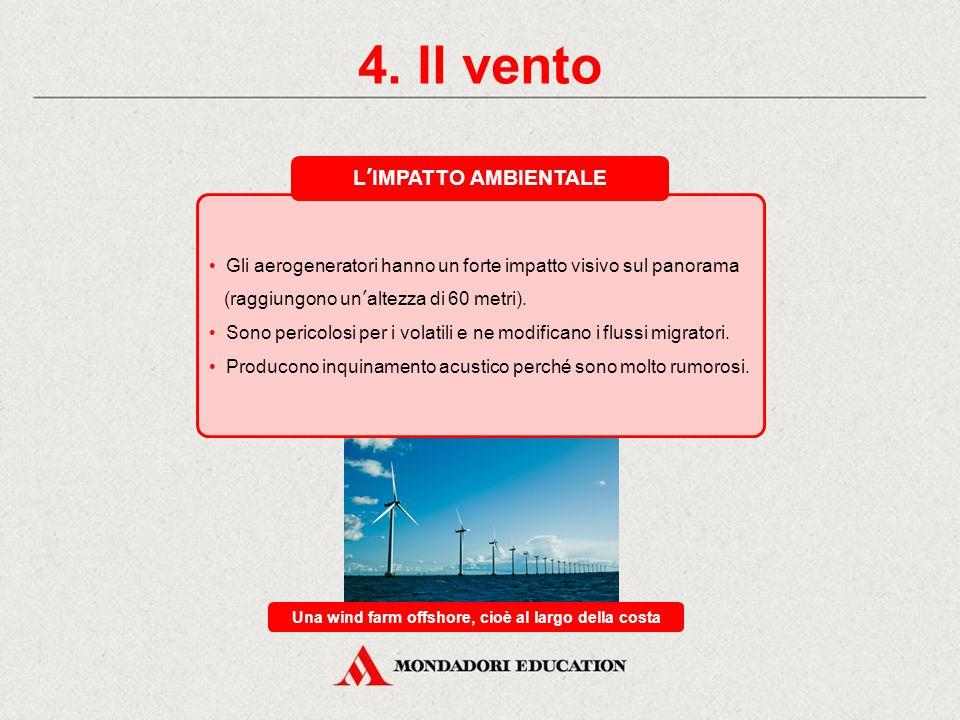 Una wind farm offshore, cioè al largo della costa