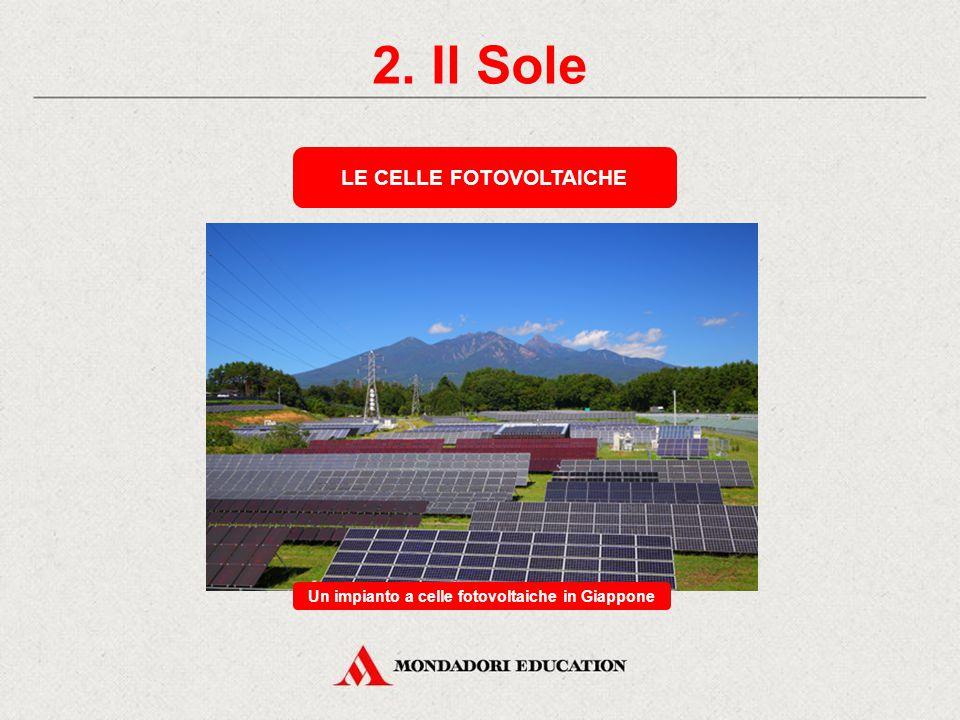 LE CELLE FOTOVOLTAICHE Un impianto a celle fotovoltaiche in Giappone