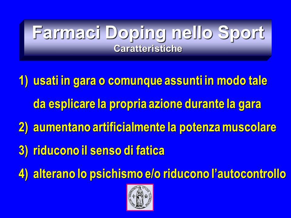 Farmaci Doping nello Sport Caratteristiche