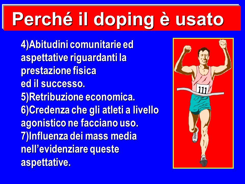 Perché il doping è usato