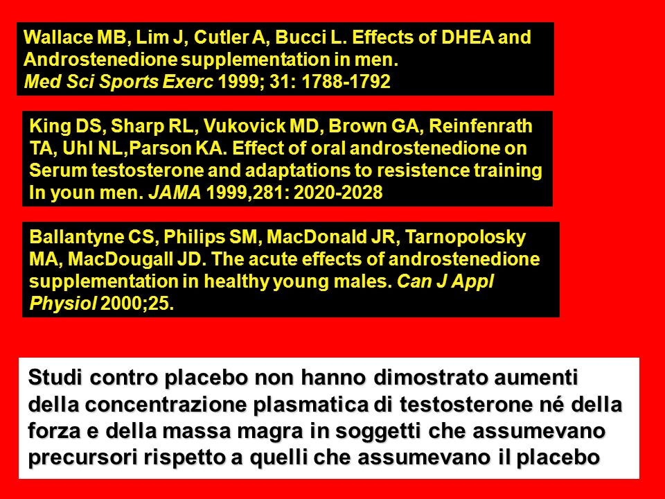 Wallace MB, Lim J, Cutler A, Bucci L. Effects of DHEA and