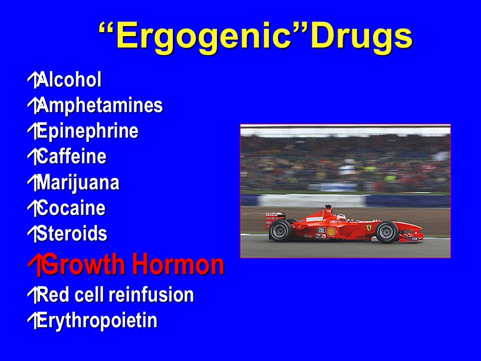 Ergogenic Drugs Growth Hormon Alcohol Amphetamines Epinephrine