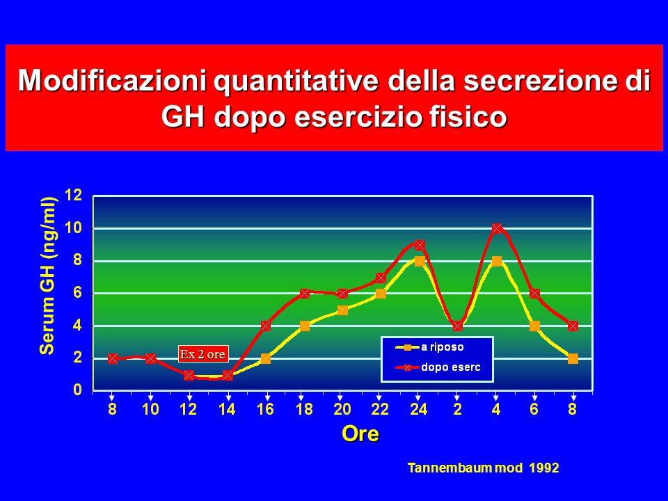 Modificazioni quantitative della secrezione di GH dopo esercizio fisico