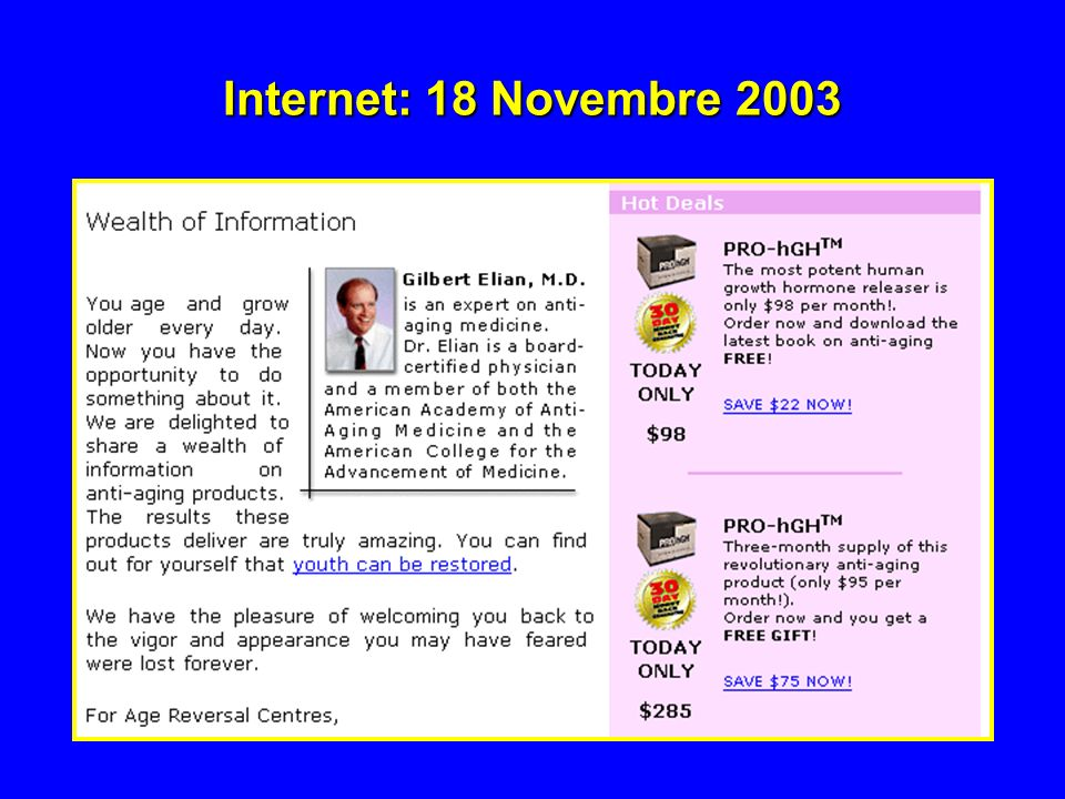 Internet: 18 Novembre 2003
