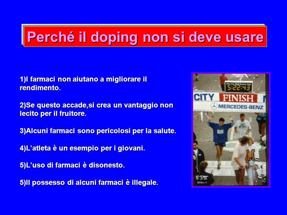 Perché il doping non si deve usare