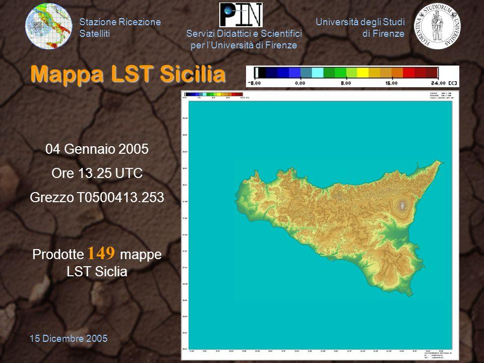 Prodotte 149 mappe LST Siclia
