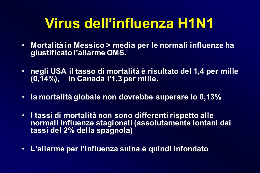 Virus dell'influenza H1N1