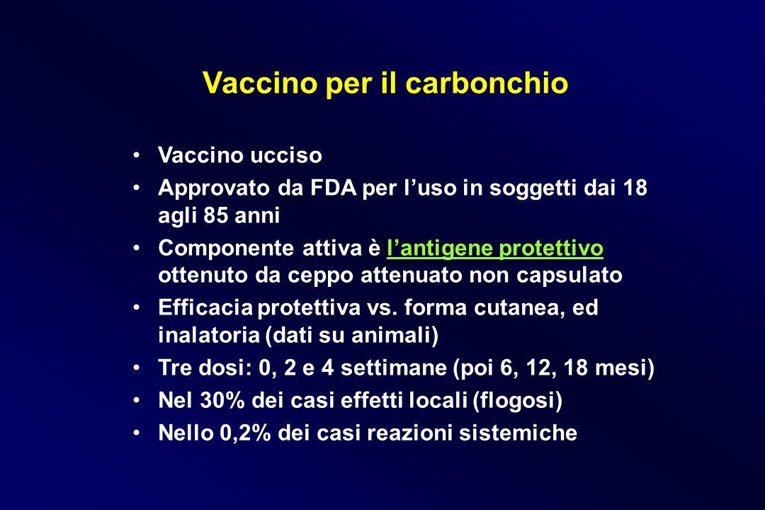 Vaccino per il carbonchio