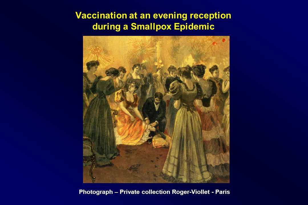Vaccination at an evening reception during a Smallpox Epidemic