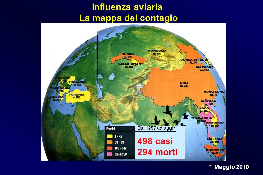 Influenza aviaria La mappa del contagio