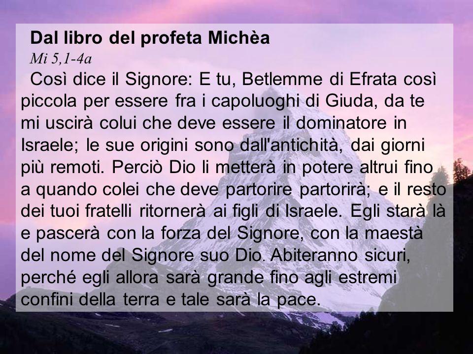 Dal libro del profeta Michèa