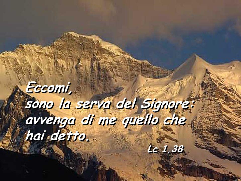 sono la serva del Signore: avvenga di me quello che hai detto.