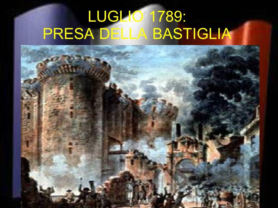 LUGLIO 1789: PRESA DELLA BASTIGLIA