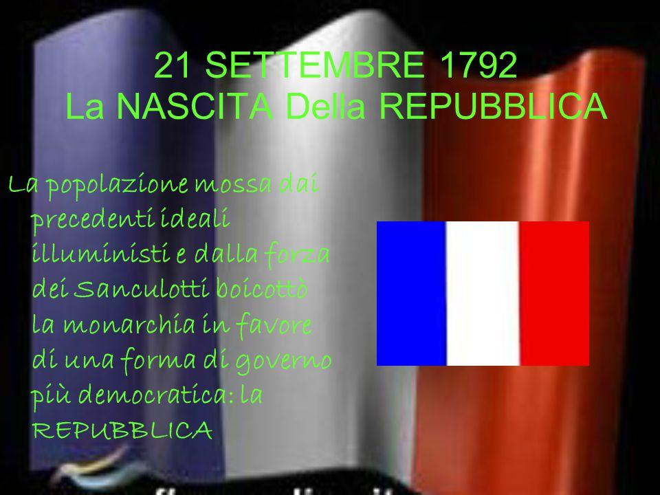 21 SETTEMBRE 1792 La NASCITA Della REPUBBLICA