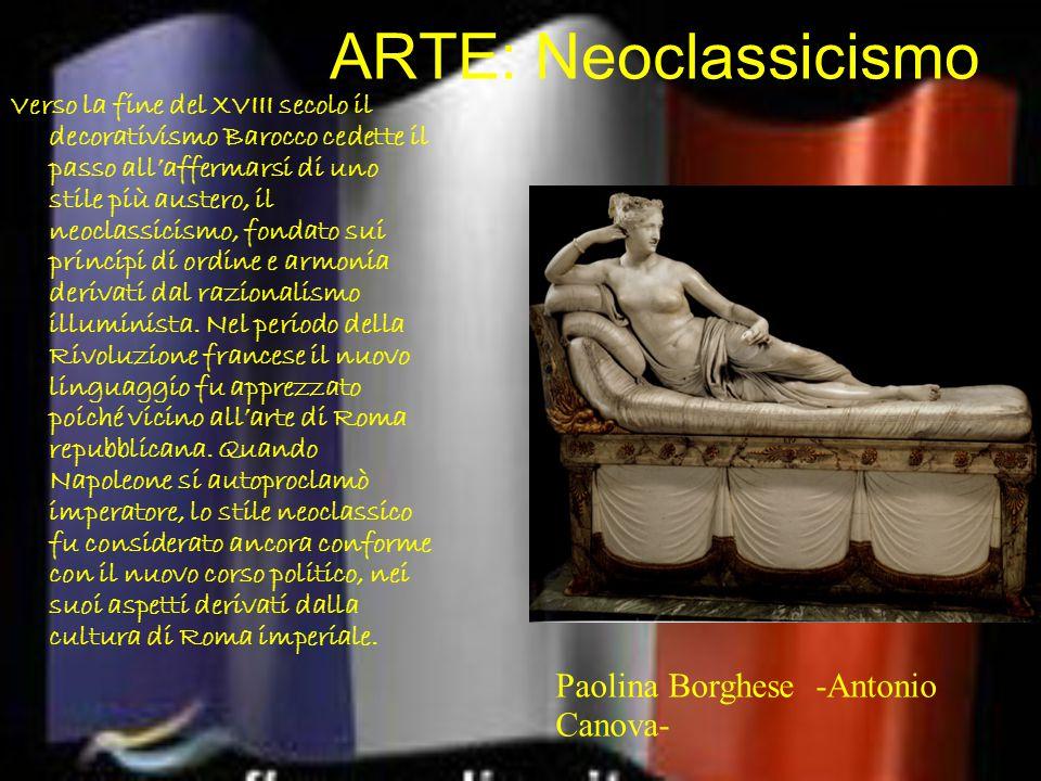 ARTE: Neoclassicismo Paolina Borghese -Antonio Canova-