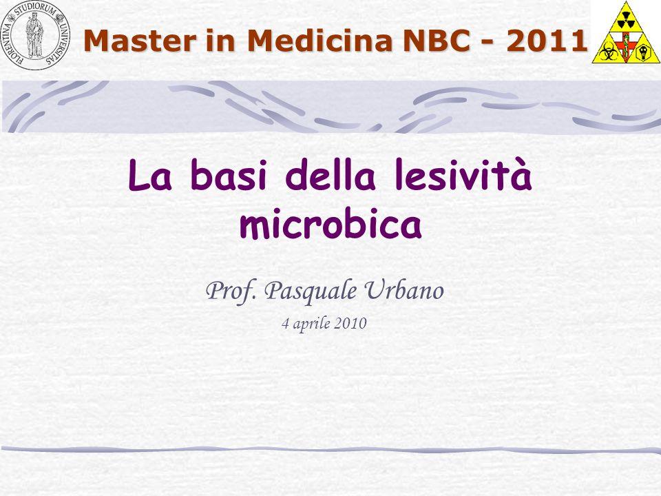 La basi della lesività microbica
