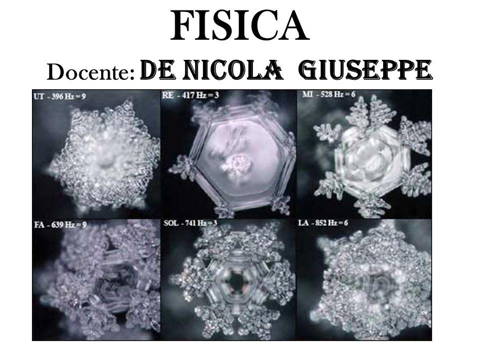 FISICA Docente: De Nicola Giuseppe