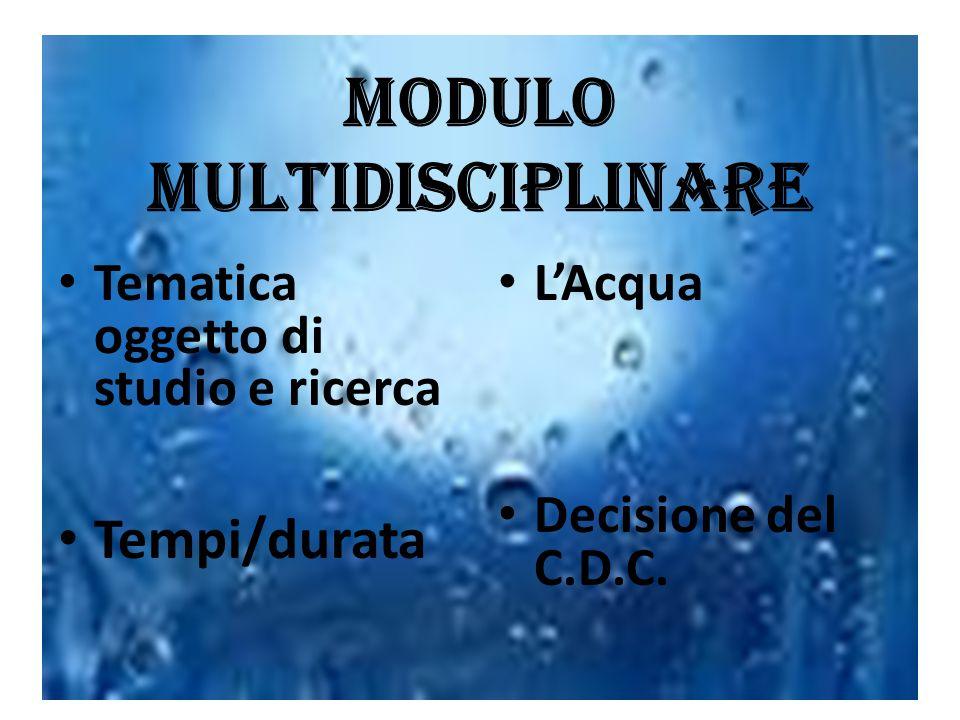 MODULO MULTIDISCIPLINARE