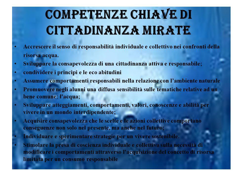 Competenze chiave di cittadinanza mirate