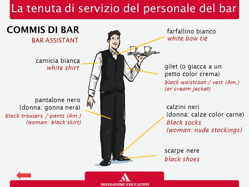 La tenuta di servizio del personale del bar