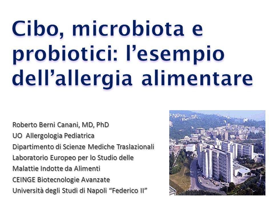 Cibo, microbiota e probiotici: l'esempio dell'allergia alimentare