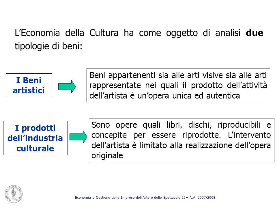 I prodotti dell'industria culturale