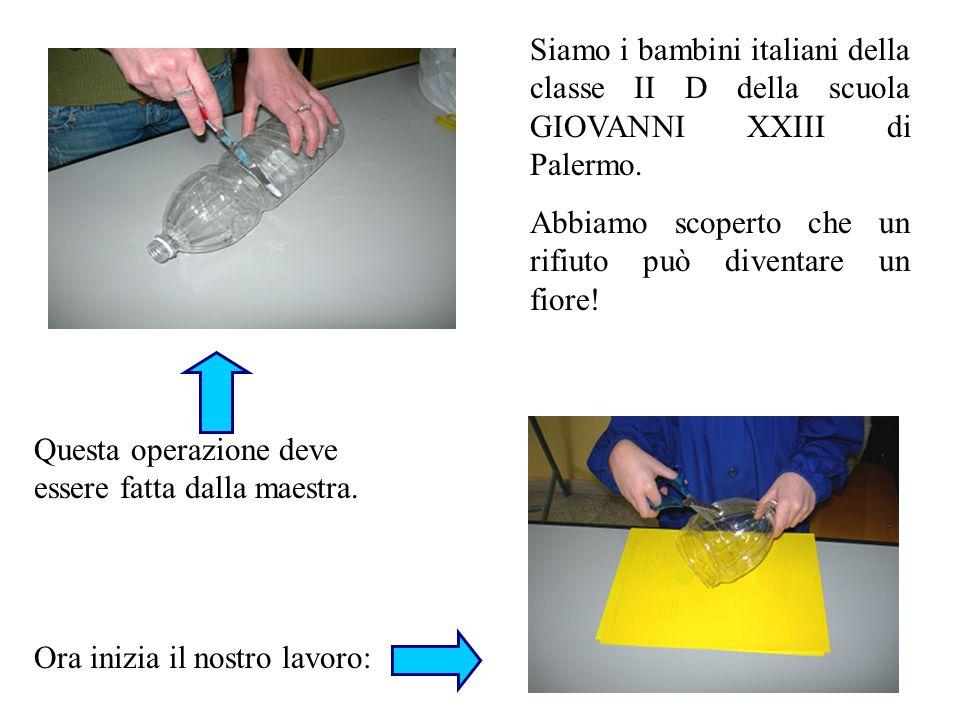 Siamo i bambini italiani della classe II D della scuola GIOVANNI XXIII di Palermo.
