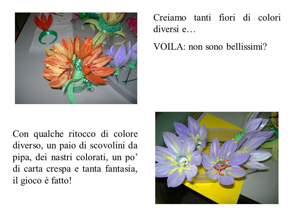 Creiamo tanti fiori di colori diversi e…