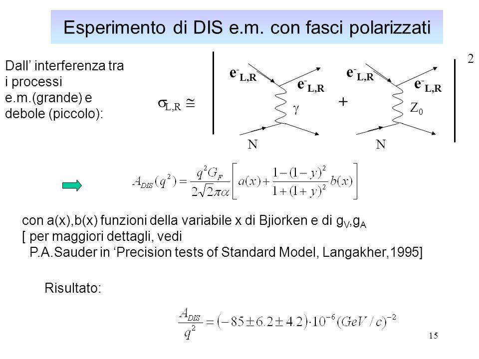 Esperimento di DIS e.m. con fasci polarizzati