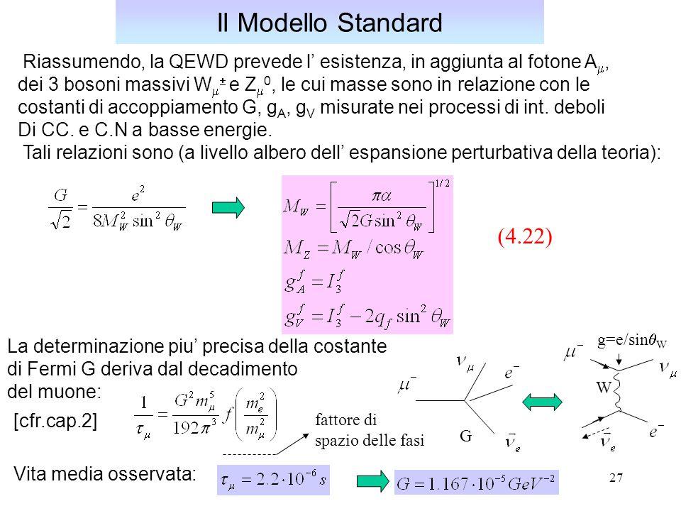 Il Modello Standard Riassumendo, la QEWD prevede l' esistenza, in aggiunta al fotone Am,