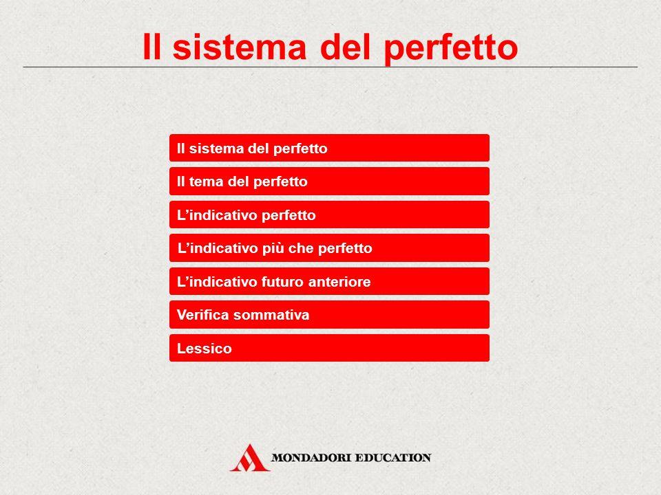 Il sistema del perfetto
