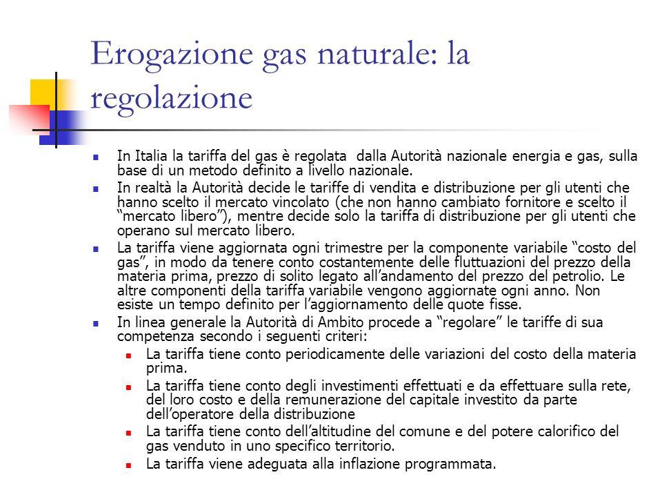Erogazione gas naturale: la regolazione