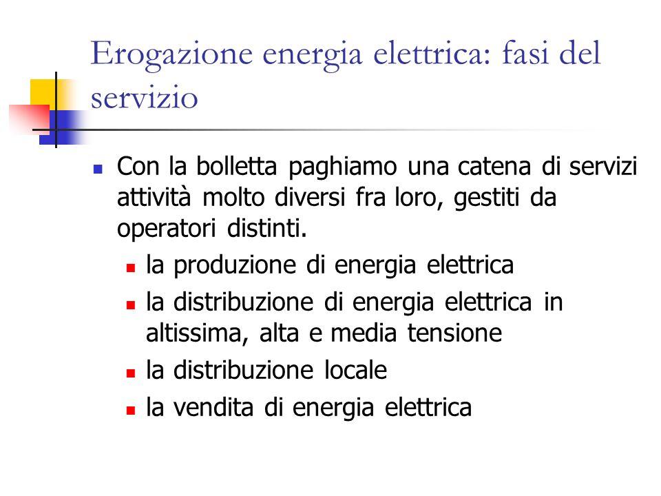Erogazione energia elettrica: fasi del servizio