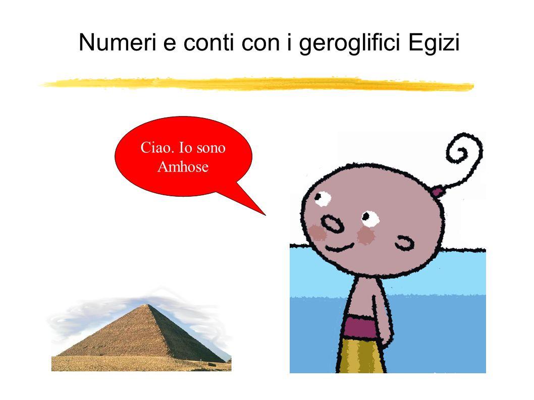 Numeri e conti con i geroglifici Egizi