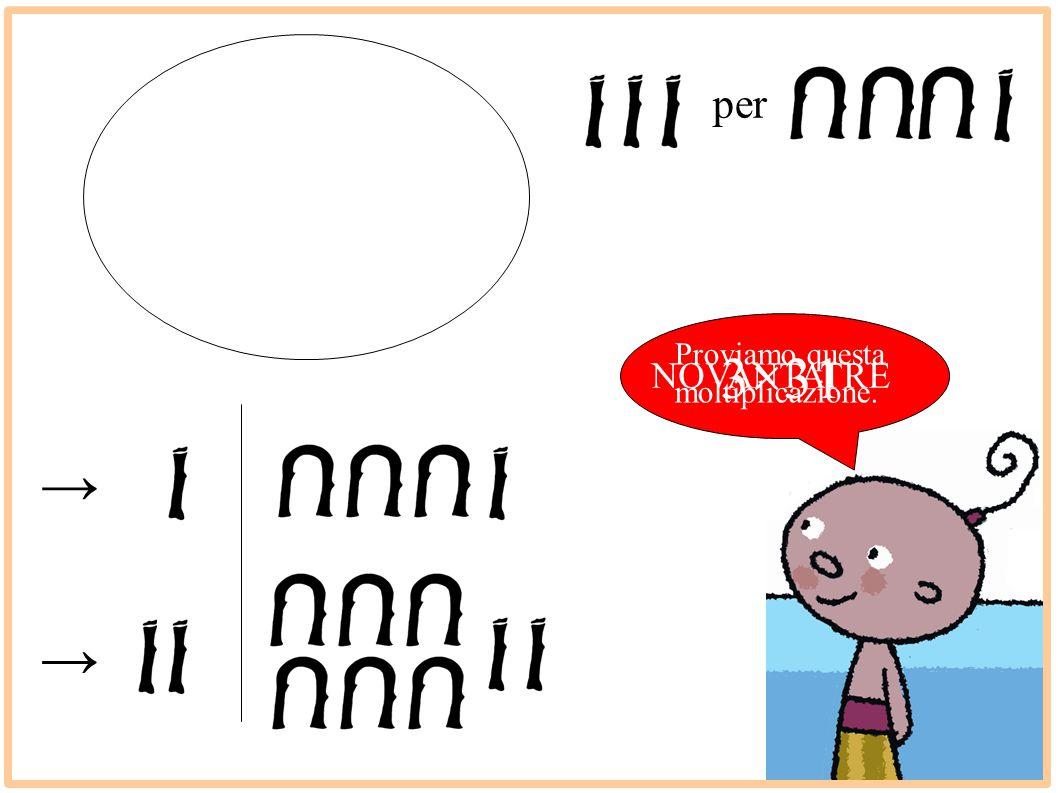 per Proviamo questa moltiplicazione. 3×31 NOVANTATRE → →