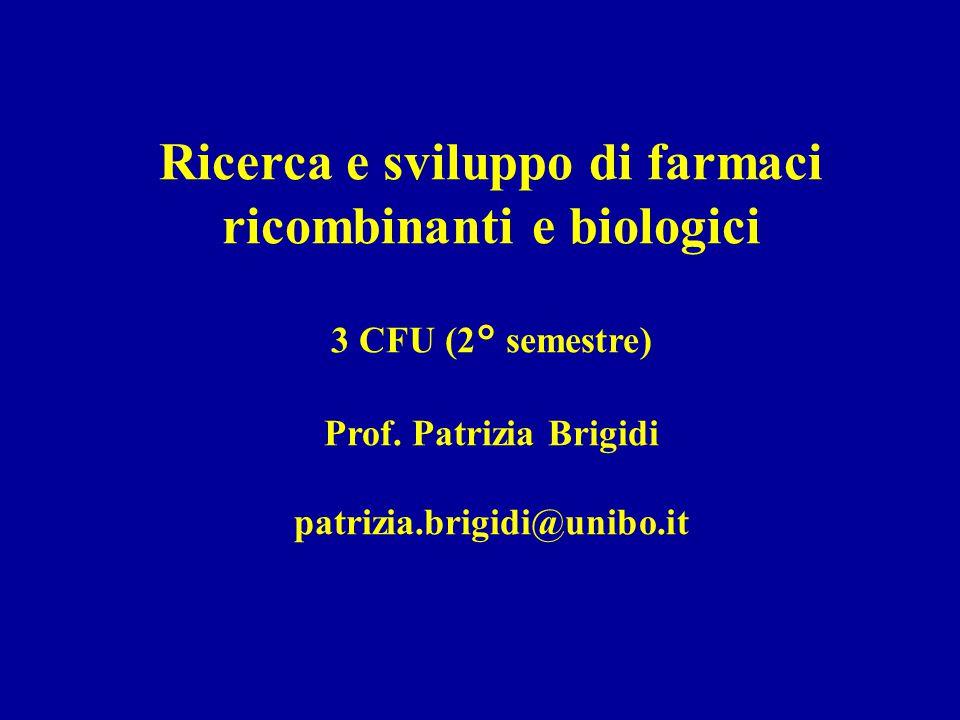 Ricerca e sviluppo di farmaci ricombinanti e biologici