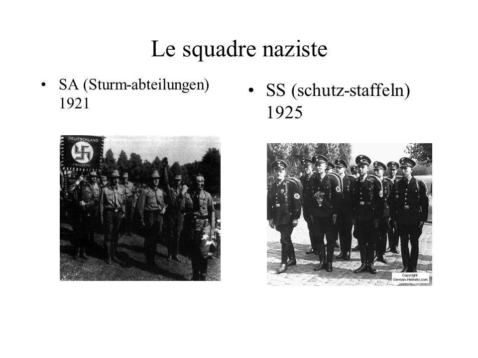 Le squadre naziste SS (schutz-staffeln) 1925