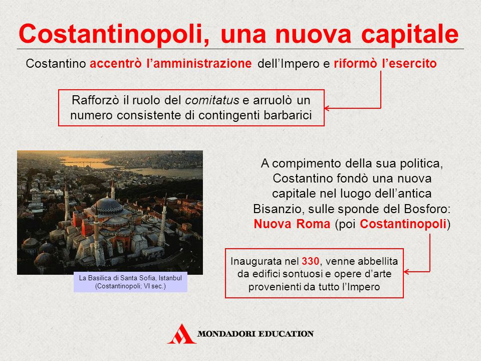 Costantinopoli, una nuova capitale