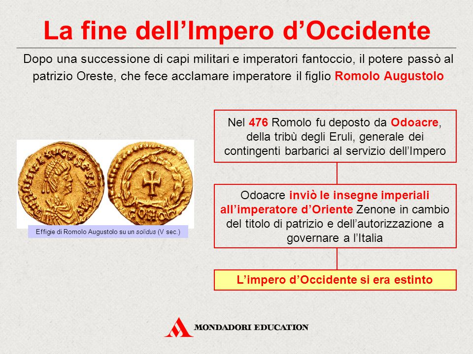 La fine dell'Impero d'Occidente