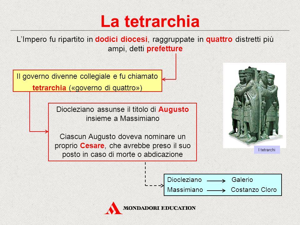 Diocleziano assunse il titolo di Augusto insieme a Massimiano