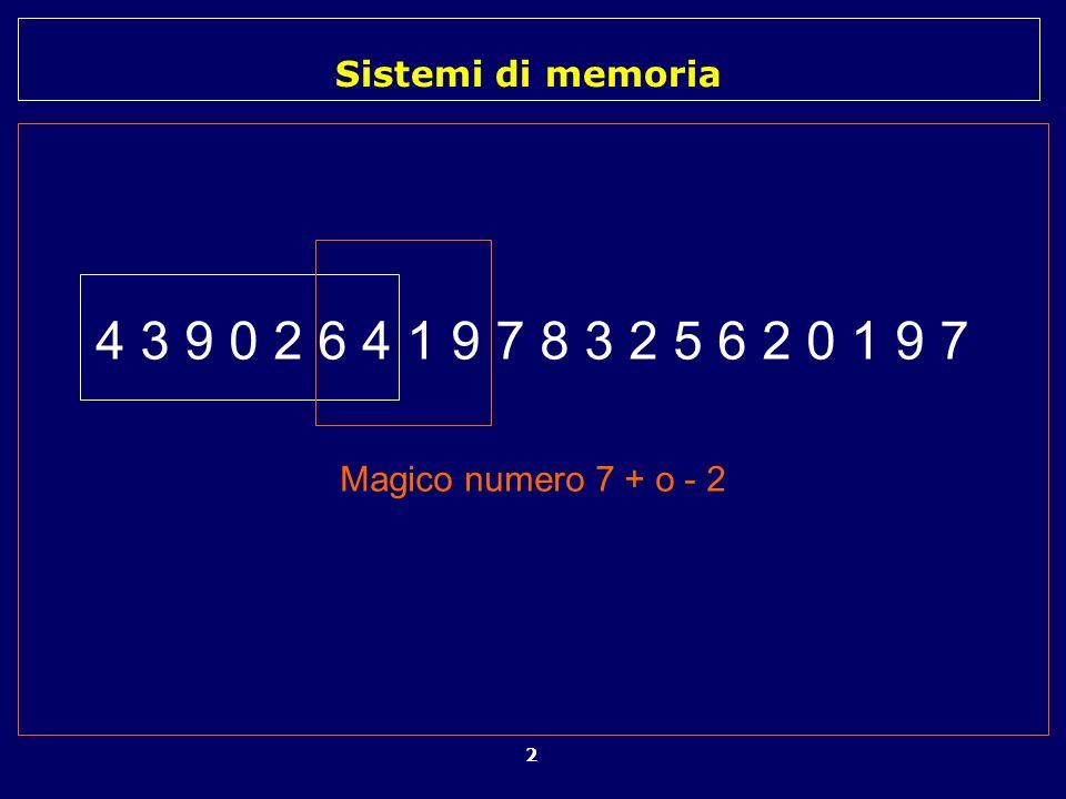 4 3 9 0 2 6 4 1 9 7 8 3 2 5 6 2 0 1 9 7 Magico numero 7 + o - 2