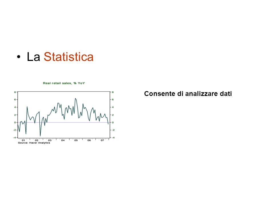 La Statistica Consente di analizzare dati