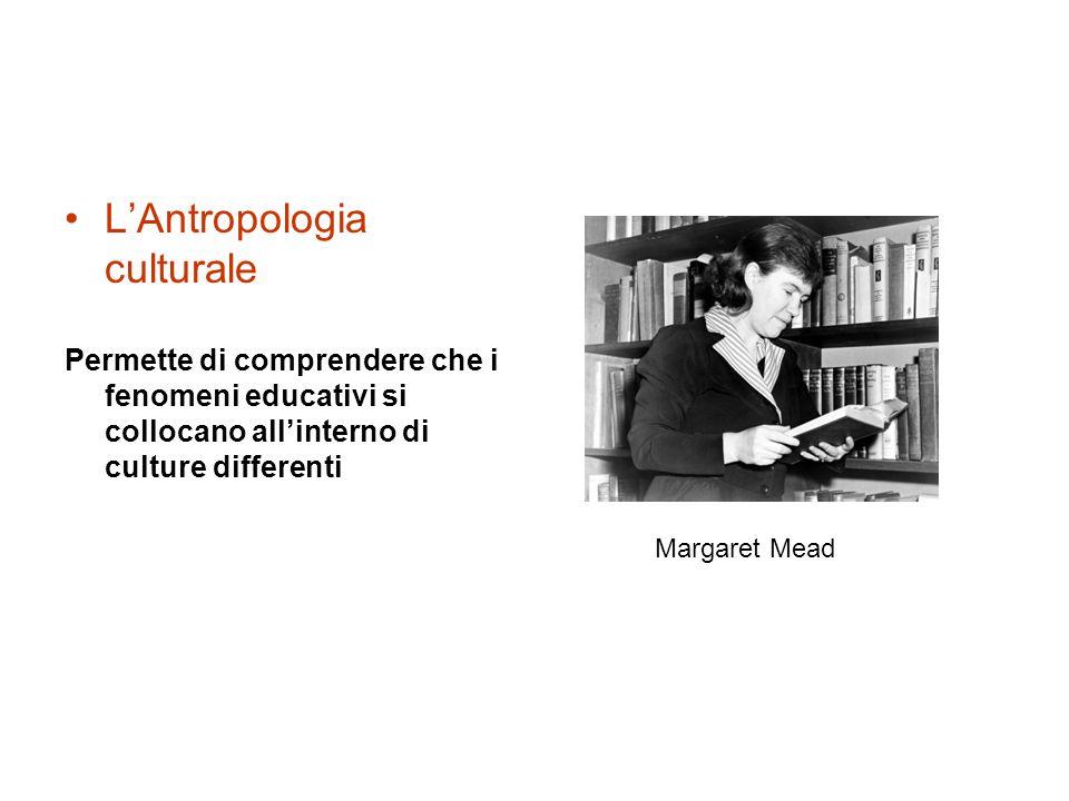 L'Antropologia culturale