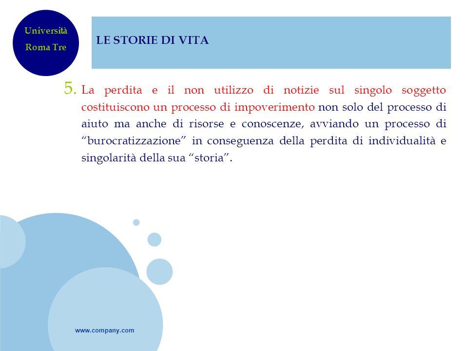 LE STORIE DI VITAUniversità. Roma Tre.