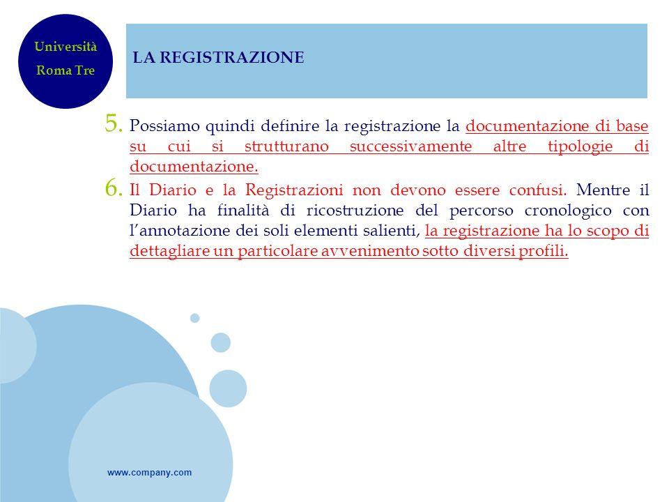 LA REGISTRAZIONEUniversità. Roma Tre.