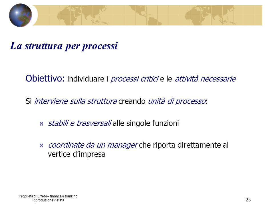 La struttura per processi