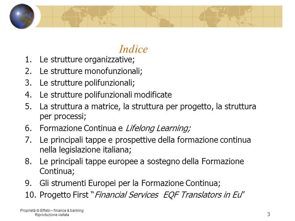 Indice Le strutture organizzative; Le strutture monofunzionali;