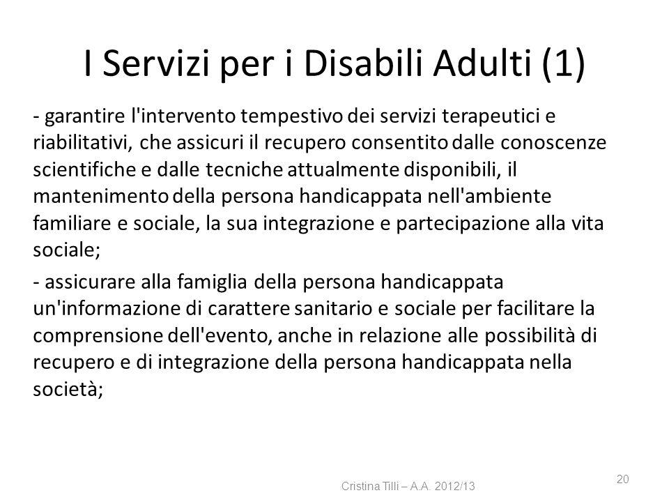 I Servizi per i Disabili Adulti (1)